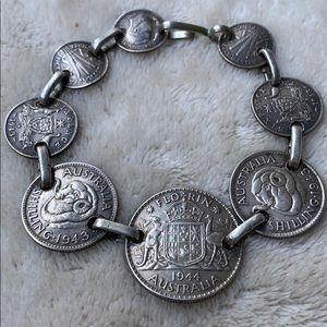 Silver Australia Coin Bracelet